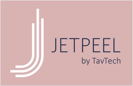 JetPeel Logo – White